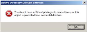 Active Directory - Error
