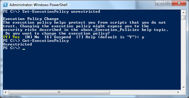 PowerShell script Execution policy