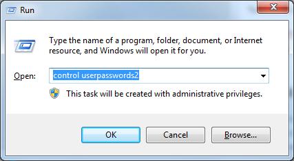run control useraccounts