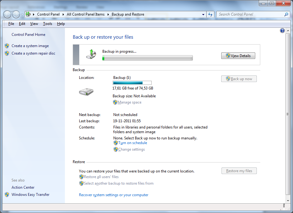 Backup and restore2