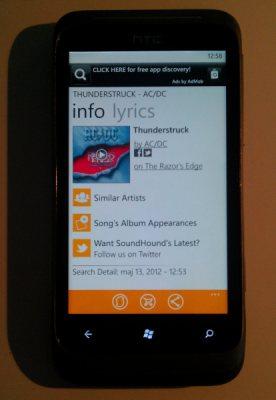 SoundHound on Windows Phone