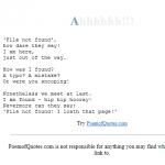 Ahhh 404 Error