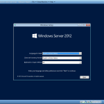 Installing Windows server 2012 part1