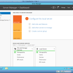Server Manager Dashboard in Windows server 2012