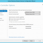 Active Directory Services Installation in Windows Server 2012