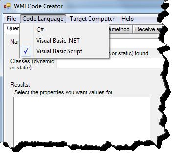 WMI Code Creator