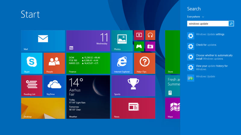 Search result Windows 8.1