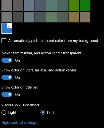 dark theme