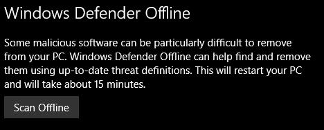 defender offline